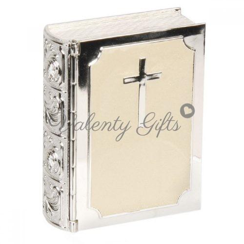 посребрена-кутия-библия-подарък-кръщене