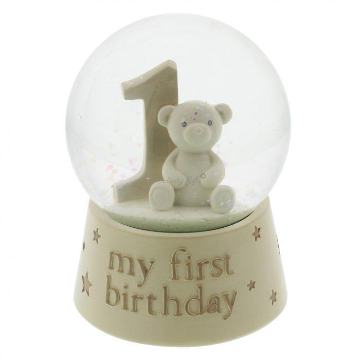 Стъклена топка-подарък за рожден ден на бебе