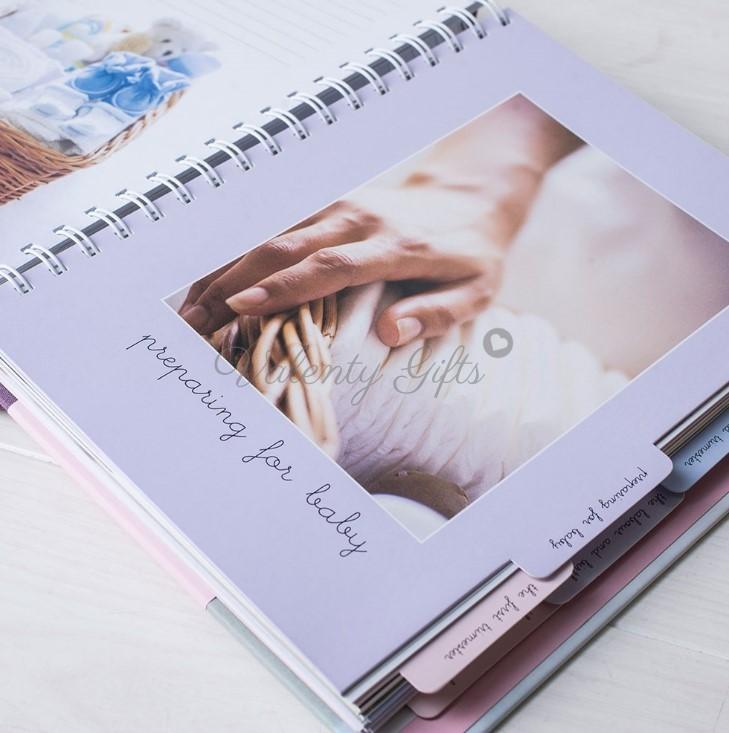 Вътрешна страница на дневник за бременност
