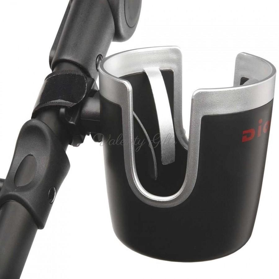 Черна поставка за чаша на количка