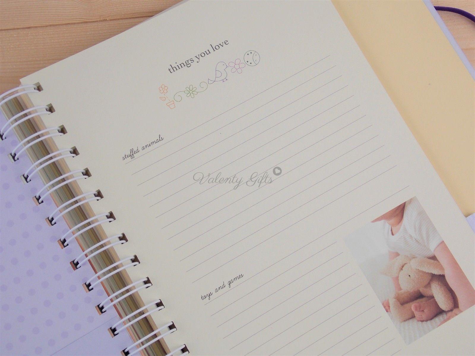 Вътрешна страница от дневник My baby's first year