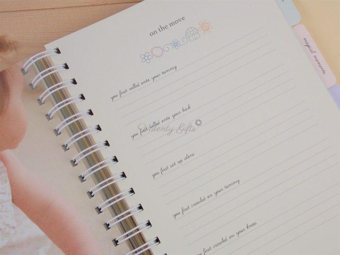 вътрешна страница от дневник на моето бебе