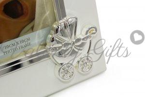 Рамка-за-снимка-бебешка-количка-с-камъче