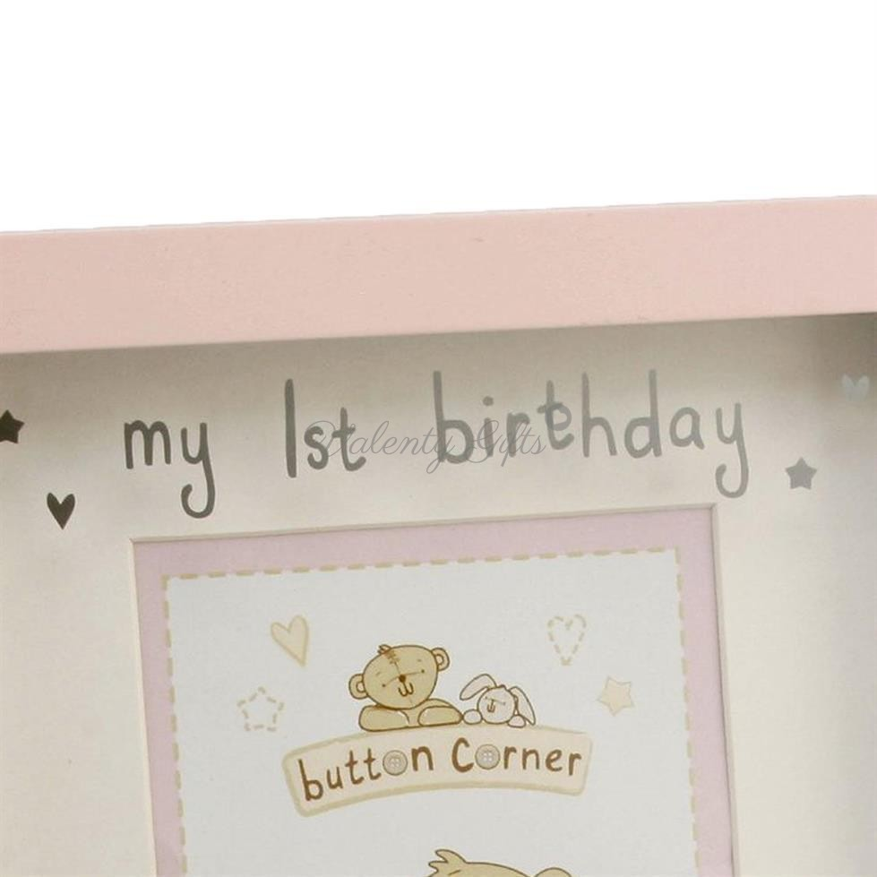 my 1st birthday надпис на розова рамка за снимка