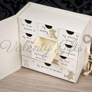 Кутия с чекмеджета с надписи