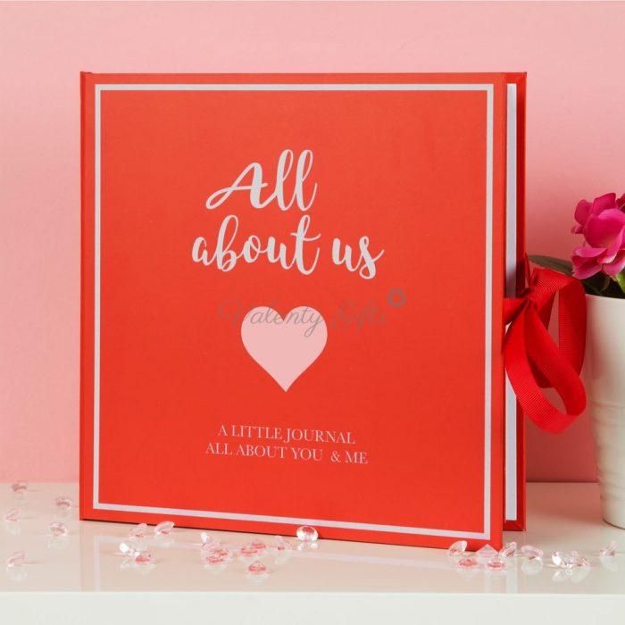 червен-дневник-албум-сватбен-подарък-годеж-годишнина