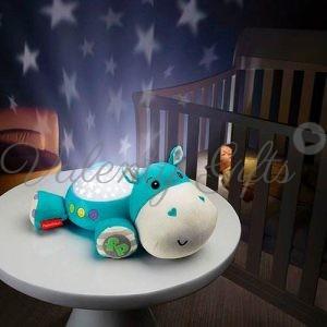 Лампа за детска стая- хипопотамче Fisher price Hippo
