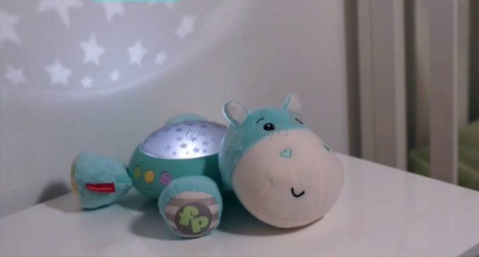 Fisher Price Hippo лампа с прожектор