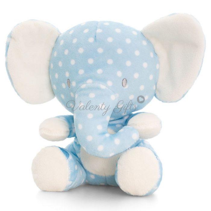 Плюшена играчка синьо слонче