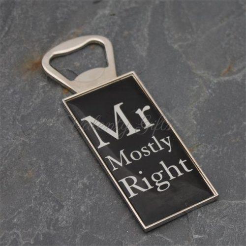 Черна отварачка за бира Mr Mostly right