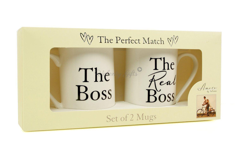 Чаши с надпис The boss / The real boss в кутия