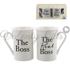 Чаши с надпис The boss / The real boss и кутия