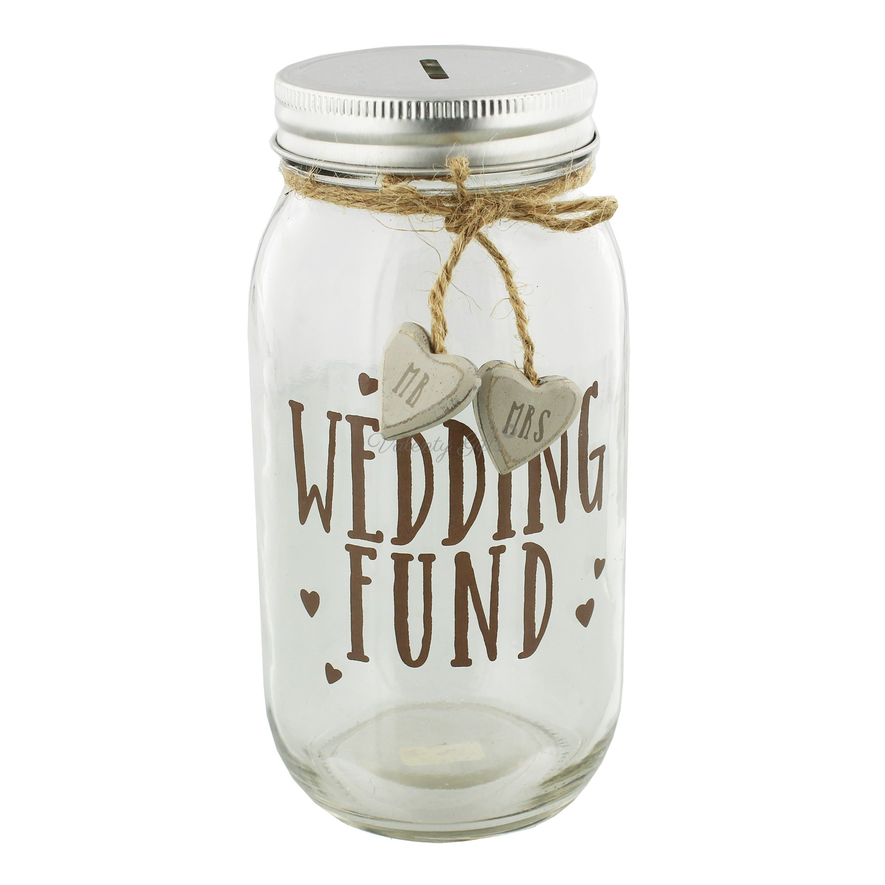Буркан с надпис Wedding fund