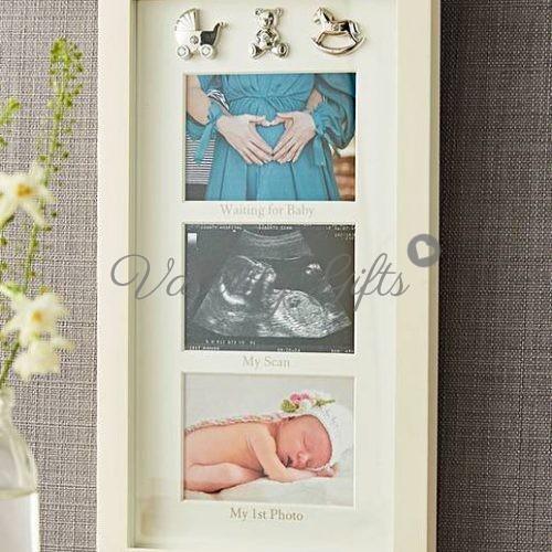 рамка за снимки от бременност, скенер и раждането с 3 фигурки Bambino