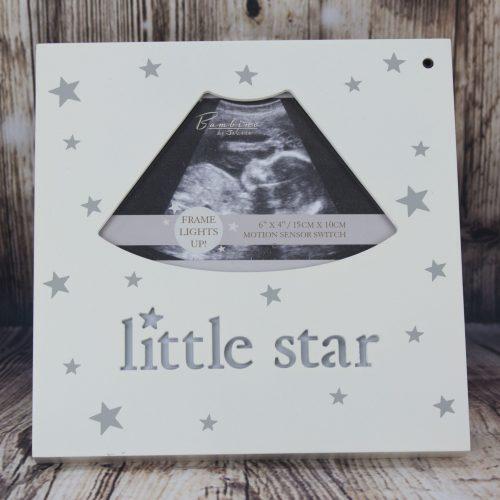 Рамка за снимка Little star, светеща, за снимката от ехограф