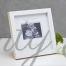 Бяла рамка за снимка от ехограф с надпис It's a boy