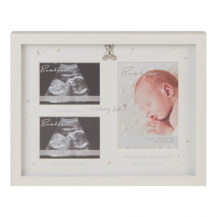 Рамка за 3 снимки- от ехограф и бебешка снимка
