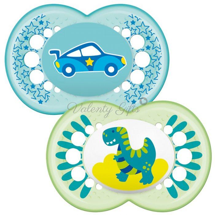 Биберони MAM с динозавърче и кола