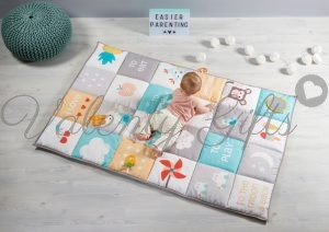 Голямо килимче за бебе в неутрални цветове