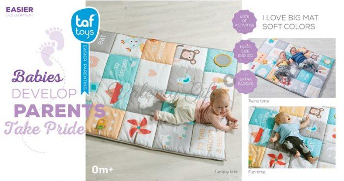 Бебе върхи килимче Taf Toys I love Big Mat