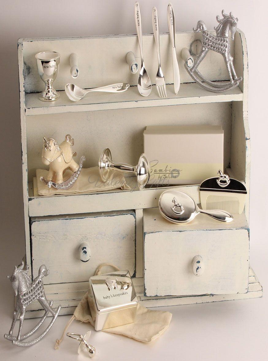Посребрени прибори за бебе, сребърна дрънкалка, сребърни сувенири