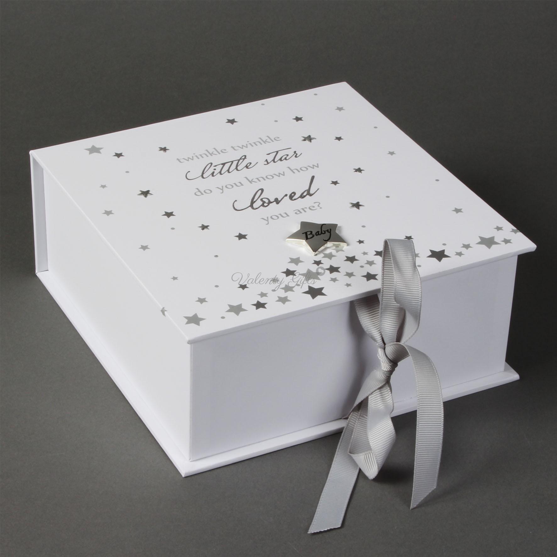 Бяла кутия със звездички и панделка Twinkle Twinkle