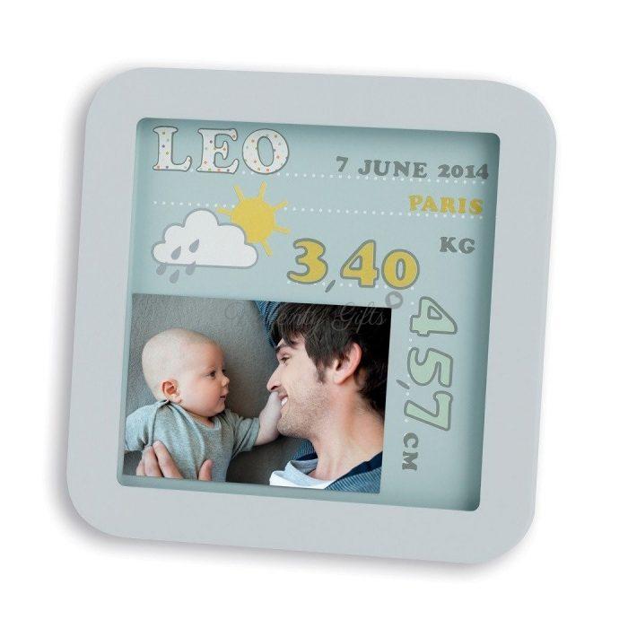 Рамка за снимка и данните на новородено бебе