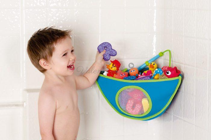 Munchkin Органайзер кошница за играчки в банята, синьо