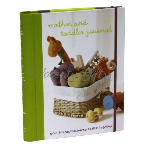 Подарък за родители- дневник на майката и детето, зелен с твърди корици