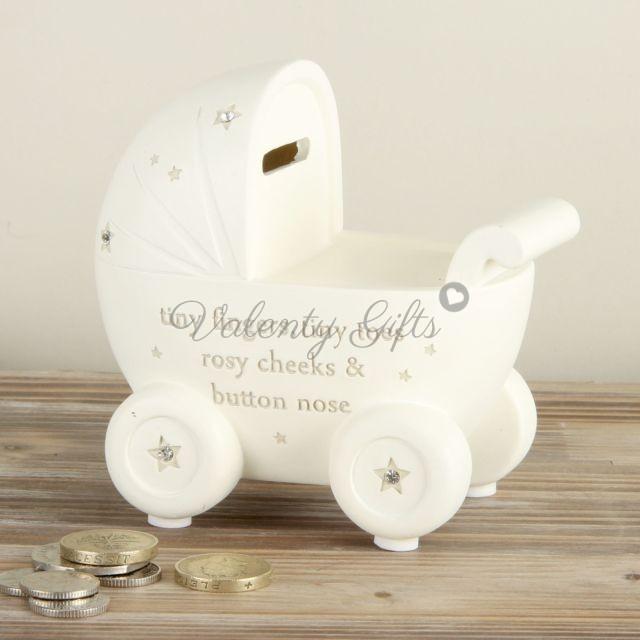 бяла-касичка-във-форма-на-бебешка-количка