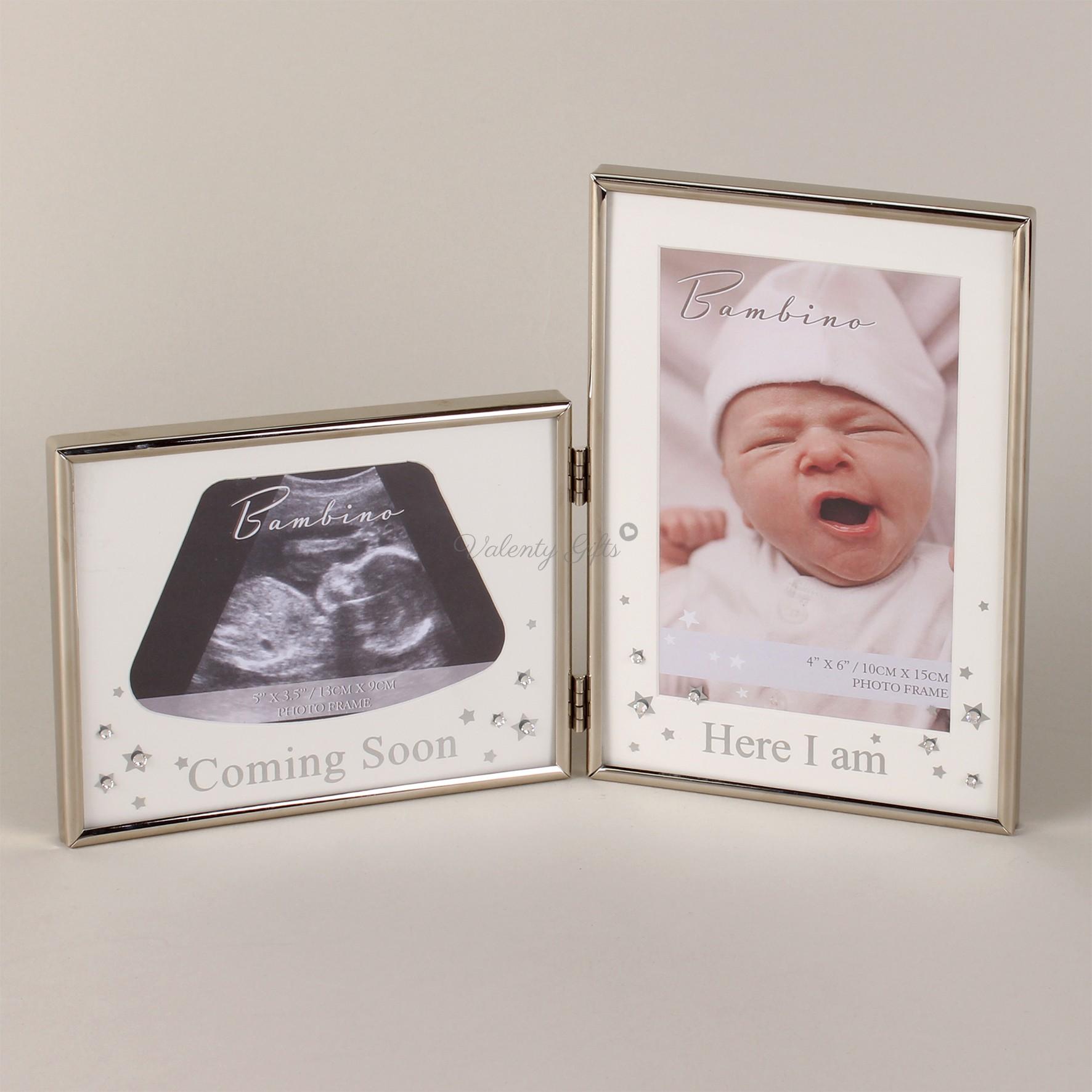 рамка-за-бебешка-снимка-снимка-ехограф-двойна-метална
