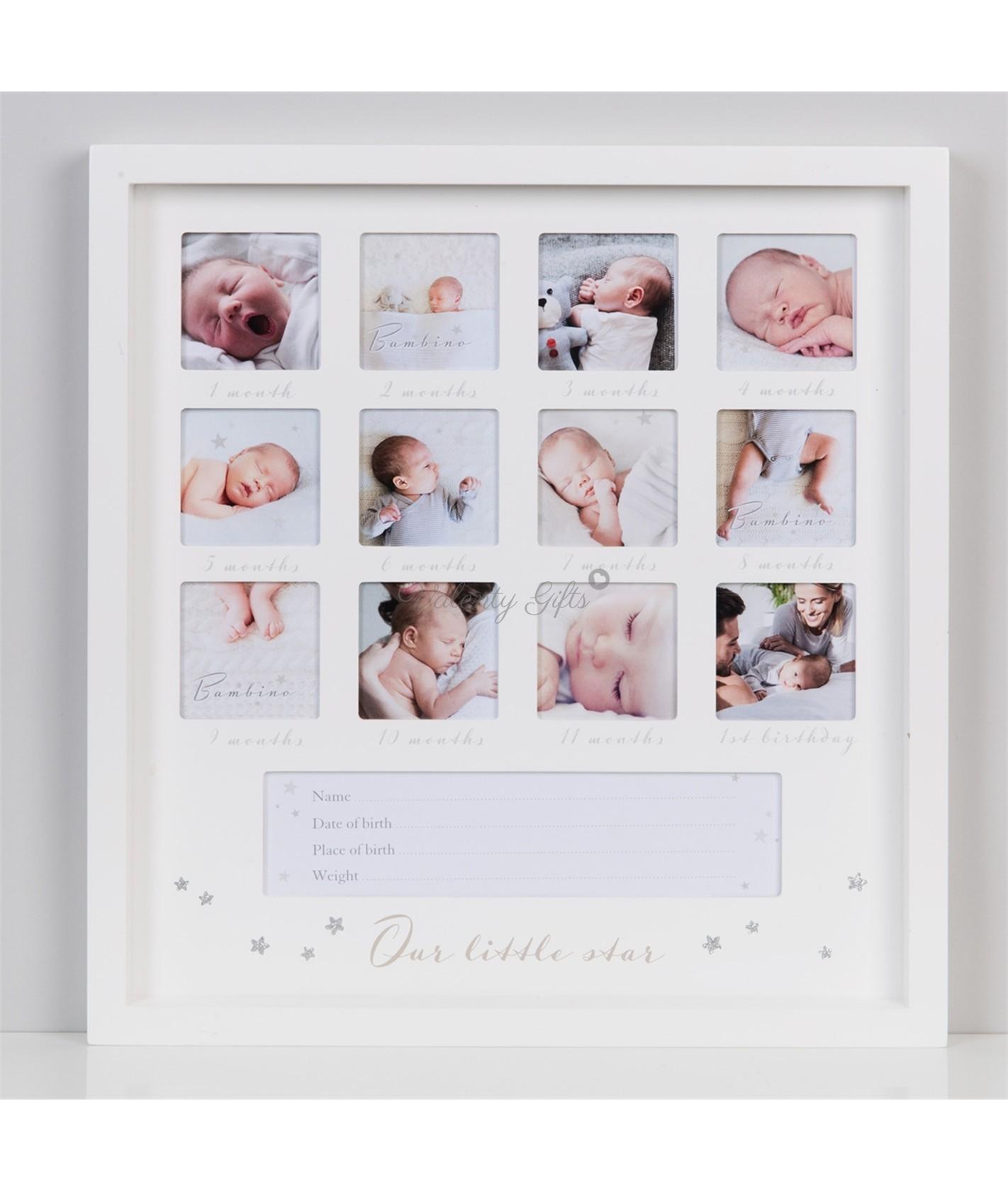 бяла-рамка-първа-година-бебе-подарък