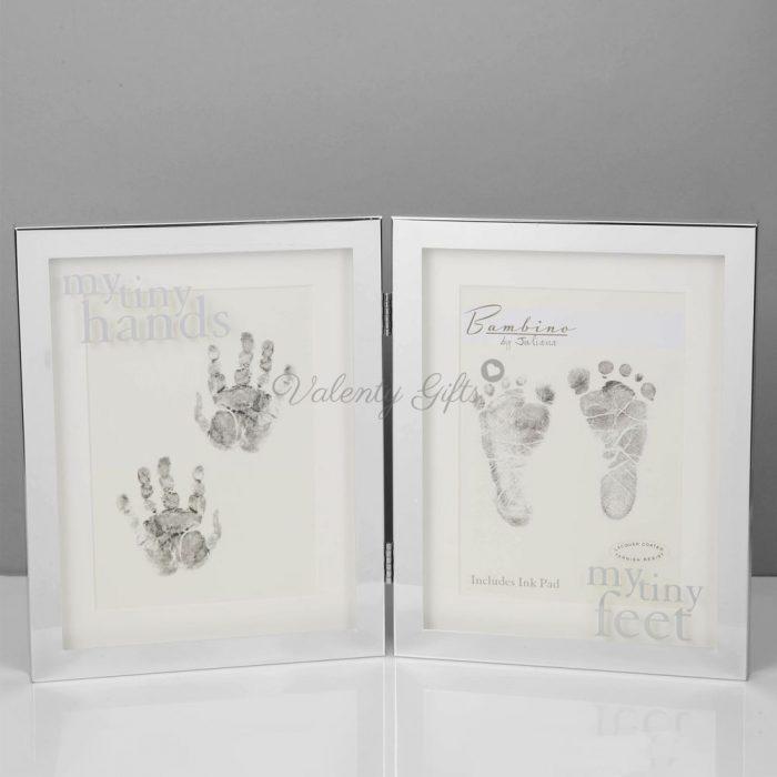 посребрена-двойна-рамка-отпечатъци-бебе