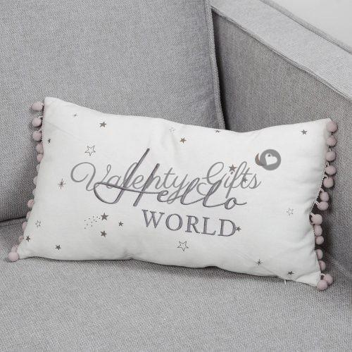 Bambino-hello-world-декоративна-възглавничка-за-бебе
