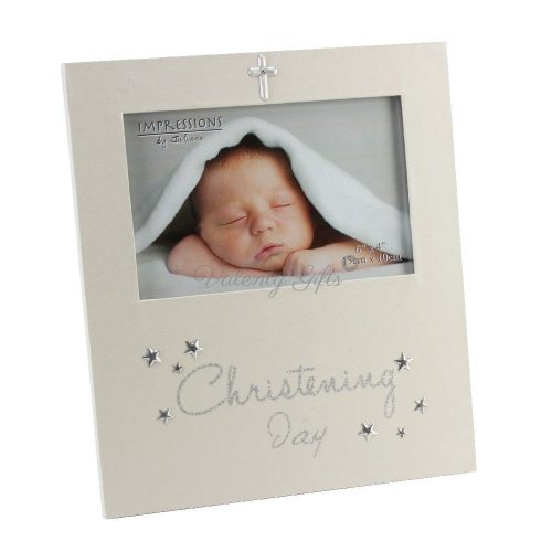 бяла-рамка-със-сребърно-кръстче-Christening-day
