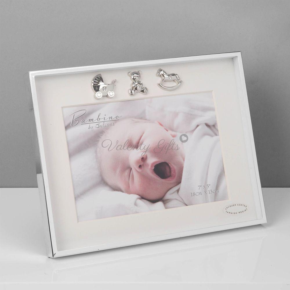 1097-Bambino-посребрена-рамка-за-снимка-за-бебешка-снимка