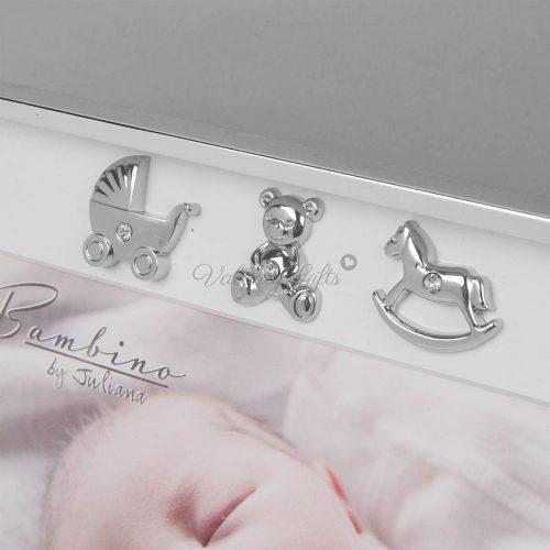 1097-Bambino-сребърни-фигурки-рамка-за-снимка
