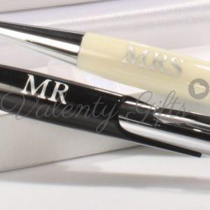 луксозни-посребрени-писалки-черна-и-бяла